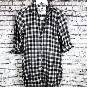 Frank Eileen Womens Black & Grey Plaid Check